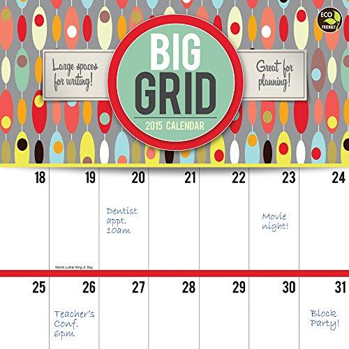 2015 big grid calendar - 1