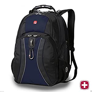 "SwissGear Laptop Notebook Mac Book iPad Swiss Gear Swissgear 17"" inch Outdoor ScanSmart Backpack - Premium High Quality - New Scale Only - Blue"