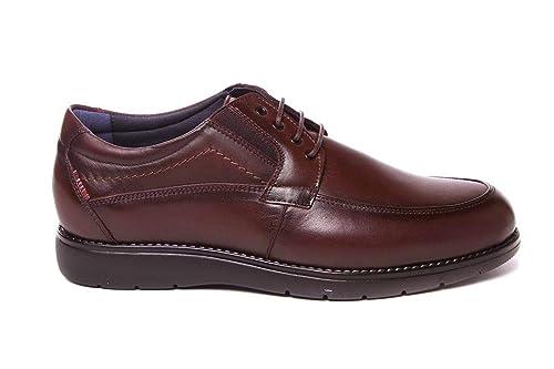 Zapato de Hombre Ancho Especial con Cordones Muy cómodo Tolino A7911 Piel Marrón