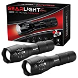 #5: GearLight LED Tactical Flashlight S1000 [2 PACK] - High Lumen, Zoomable, 5 Modes, Water Resistant, Handheld Light - Best Camping, Outdoor, Emergency, Everyday Flashlights