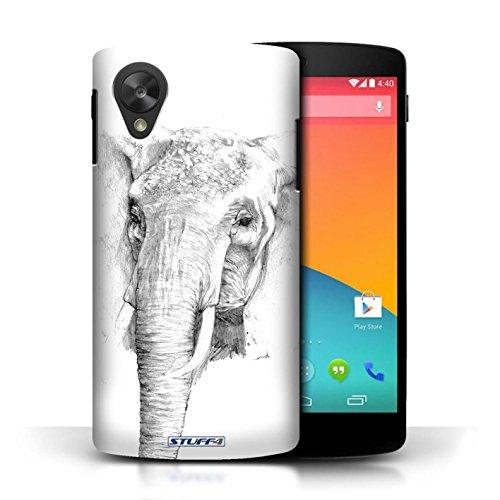 Etui pour LG Google Nexus 5/D821 / éléphant conception / Collection de Dessin Croquis