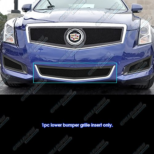 Fits 2013-2014 Cadillac ATS Stainless Black Bumper Mesh Grille #A75953H