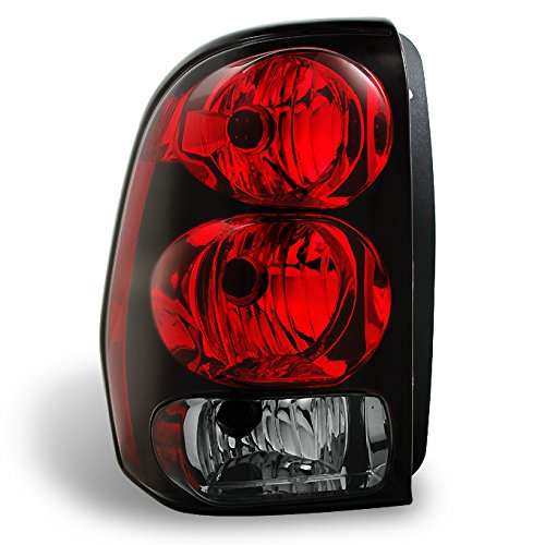For 02-09 Chevy Trailblazer Red Clear Rear Driver Left Side Tail Light Brake Lamp Taillamp ()