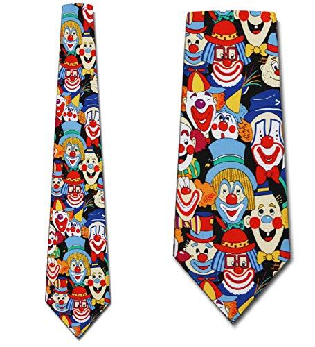 Big Clowns tie Mens Necktie by Three Rooker Neck Tie Neckwear ()