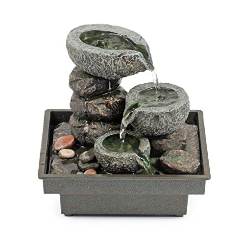 Pajoma-18430-Zimmerbrunnen-Floating-Stones-aus-Polyresin-Hhe-25-cm