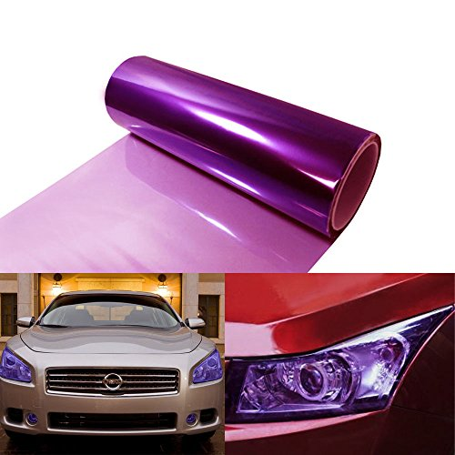 12 by 48 inches Self Adhesive 20% Purple Headlights, Tail Lights, Fog Lights Tint Vinyl Film (Purple Film For Fog Lights compare prices)
