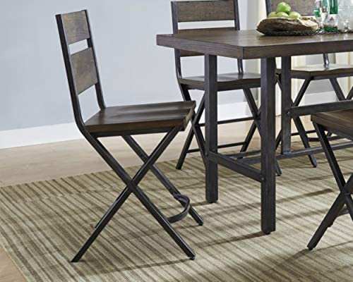 Signature Design By Ashley – Kavara Barstool – Set of 2 – Casual Style – Two-tone Brown Gray