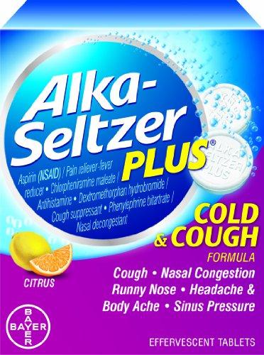 Alka-Seltzer Plus Toux et rhume effervescente, Citrus Flavor, 20-Count (Pack de 2)