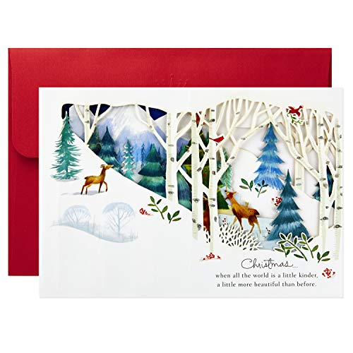 Hallmark Paper Wonder Pop Up Holiday Card (Woodland Animals Pop Up) Photo #7