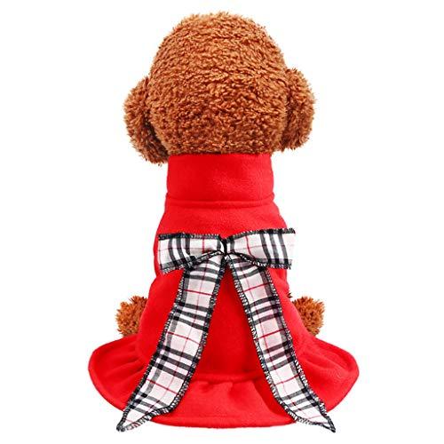 TOPBIGGER Puppy Dog Dress,Dogs Winter Warm Dress