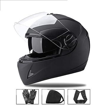 Casco para motocicleta de cara completa, casco de ciclismo para adultos, ventilación de resistencia