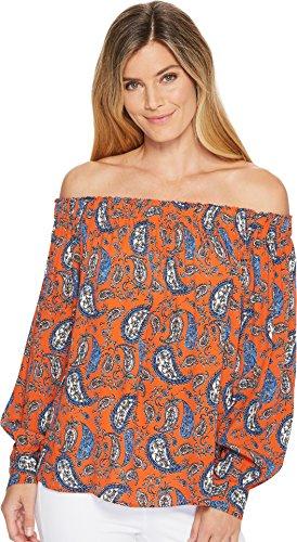 Karen Kane Women's Off The Shoulder Top Print Medium by Karen Kane