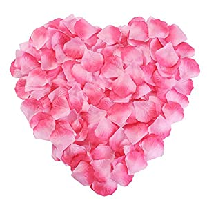 Silk Rose Petals Flower Red for Wedding Proposal Decorations 2000PCS by NewStarFire (Pink) 26