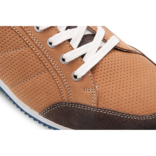 Zerimar Chaussures en Cuir Pour Homme Chaussure Homme Confort Couleur Tan Taille 43