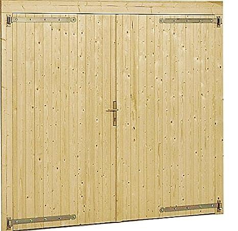 Portoni A Due Ante Per Garage Usato.Portone Per Garage Box Auto In Legno Da Giardino 3054 3454
