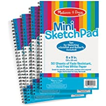 Melissa & Doug Mini-Sketch Spiral-Bound Pad (6 x 9 inches) - 4-Pack