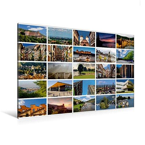 120x80 cm Calvendo Premium Textil-Leinwand 120 cm x 80 cm quer, Heidelberg Views - Heidelberger Ansichten   Wandbild, Bild auf Keilrahmen, Fertigbild auf echter Leinwand, Leinwanddruck Orte Orte