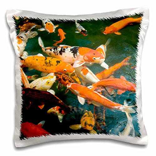 Danita Delimont - Fish - Ornament Koi, Shopping Mall, Malacca, Malaysia -AS23 SWS0092 - Stuart Westmorland - 16x16 inch Pillow Case - Mall Westmorland