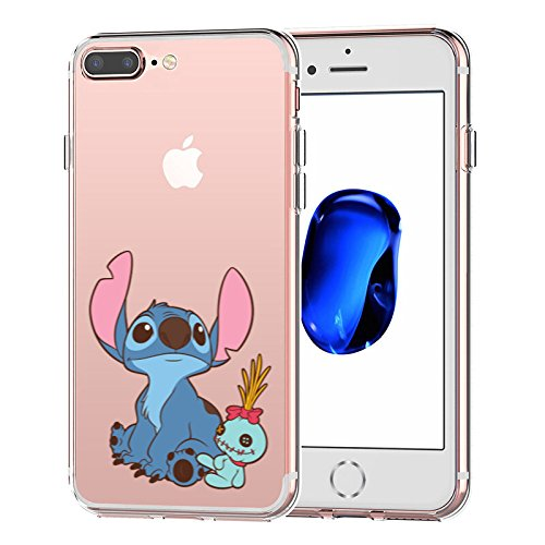 info for c5fe8 0733a iPhone 7 Plus CASE,iPhone 8 Plus CASE, Stitch Look up to The Sky 3D Printed  Soft Clear Cute Case