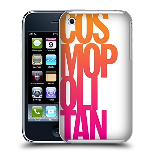 Official Cosmopolitan Stacked Logo Hard Back Case for Apple iPhone 3G / 3GS