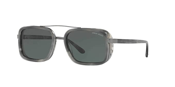 d67a63de40a8 Giorgio Armani Mens Sunglasses Grey Green Metal - Non-Polarized - 53mm