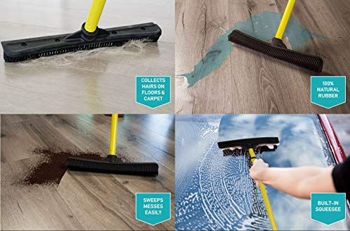 Evriholder 250I-180I-AMZ, FURemover Pet Hair Removal Broom and Lint Brush Combo with Squeegee and Telescoping Handle That Extends from 3-5' by Evriholder (Image #4)