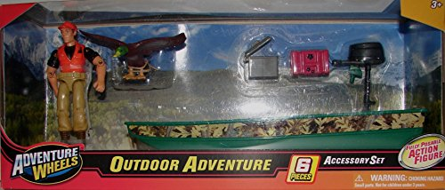 Adventure Wheels Outdoor Adventure 6pc Accessory Set (Toy Bass Boat)