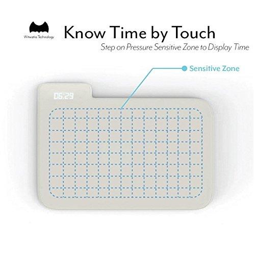 SD Stand On Pressure Sensitive AAA Battery Smart Alarm Clock Mat Floor Rug LED Time