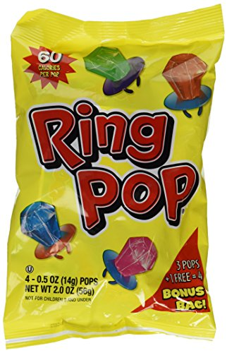 Ring Pop Candy 4ct 2oz Bag (Set of -