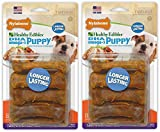 NylaboneS 2 Pack of Healthy Edibles Turkey and Sweet Potato Puppy Chew Treats, 8 Treats Per Pack