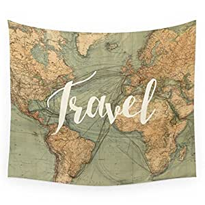 "Society6 Travel Wall Tapestry Medium: 68"" x 80"""