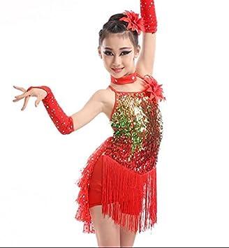 e3a70ecd52 Children Latin dance tassel dress girl shiny stage dance performance  costume dance show