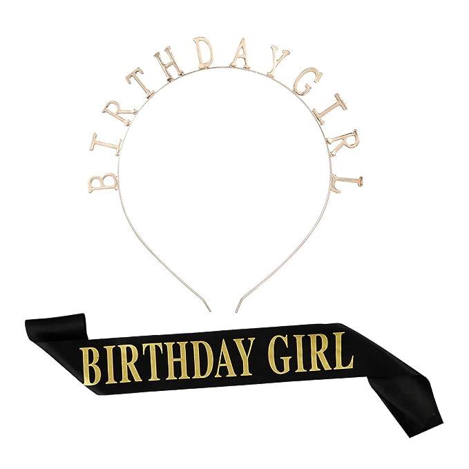 Bolonbi tiara de cumpleaños, diadema de niña de cumpleaños ...