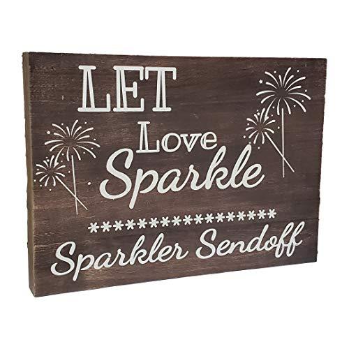 Sparklers In Bulk (JennyGems Real Wood Sign - Let Love Sparkle Sparkler Sendoff - Sparkler Send Off - Sparkler Send Off Wooden Wedding)