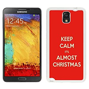 Custom and Personalized Cell Phone Case Design with Keep Calm It's Almost Christmas Galaxy NOTE 3 N900P Wallpaper in White