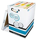 Boxa 2 in 1 OMNI Record Storage Box, Holds 7560 Double-Stacked Letter/Legal Folders, 18 Pack (6-OM02-0-BB-18)