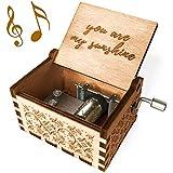 Mini Music Box Collectible Hand Shake Wooden Music Box for Festival Souvenirs