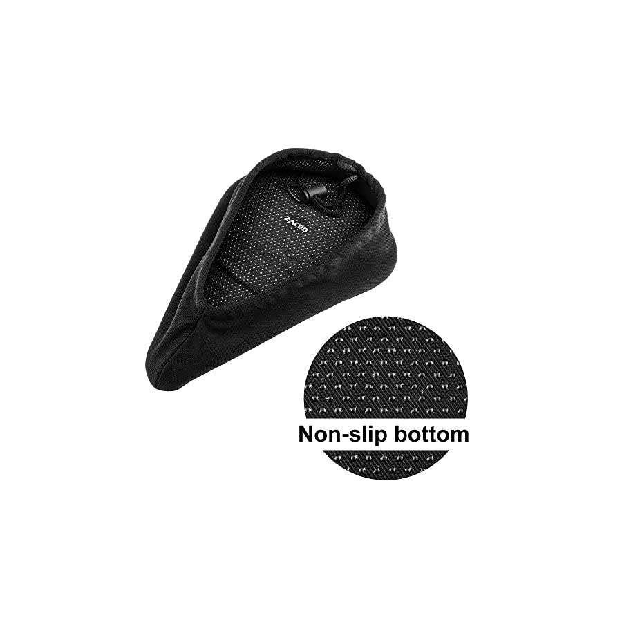Zacro Gel Bike Seat Cover Extra Soft Gel Bicycle Seat Bike Saddle Cushion with Water&Dust Resistant Cover