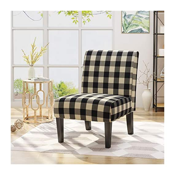 Christopher Knight Home 306411 Kendal Traditional Upholstered Farmhouse Accent Chair, Black Checkerboard, Matte -  - living-room-furniture, living-room, accent-chairs - 511xXxQMv3L. SS570  -