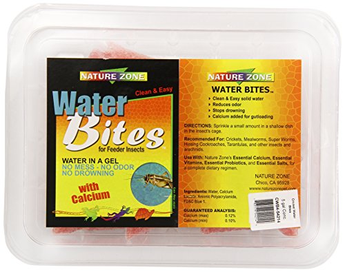 Nature Zone Pet (Nature Zone SNZ54214 Water Bites Food with Calcium Concentrate for Crickets, 5-Gallon)