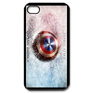 Scholarly Cottage Order Case Captain America For iPhone 4,4S Send tempered glass screen protector LL9WF793336