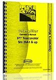 Caterpillar 977 Traxcavator 20A1 Operators Manual