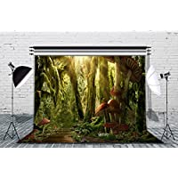 LB 9x6ft Virgin Forest Poly Fabric Photography Background Customized Photography Backdrop Studio Prop MH592
