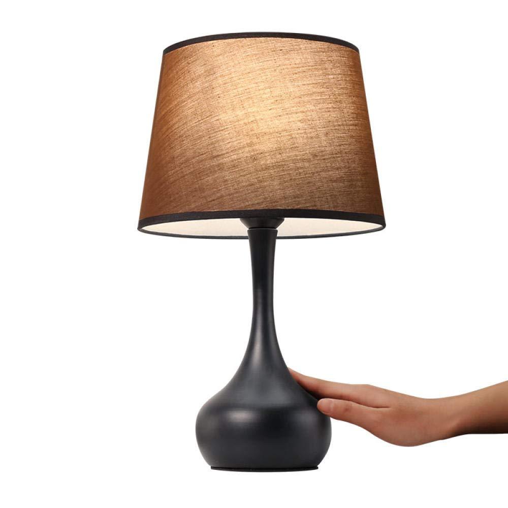 Schwarz Tischlampe Schlafzimmer Nachttischlampe einfache moderne Induktionslampe warme nordische Tischlampe dimmbare Touch Tischlampe schwarz