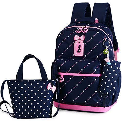 - Girl School Bags For Teenagers Backpack Set Women Shoulder Travel Bags 3 Pcs/Set Knapsack Blue