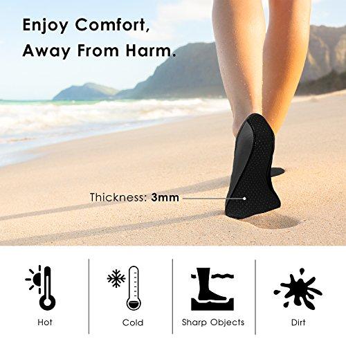 Scarpe Da Acqua Allaperto Per Uomo Donna, Moko Outdoor A Piedi Nudi Quick Dry Aqua Socks Sport Acquatici Scarpe Per Spiaggia, Nuoto, Surf, Yoga Ed Esercizio Nero