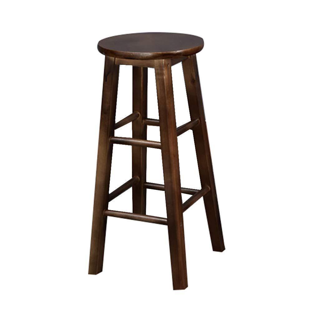 DHMHJH Bar Chair Solid Wood Bar Chair Oak Ladder Bench Retro Bar Chair 3 Heights Optional (Size : 303270cm)