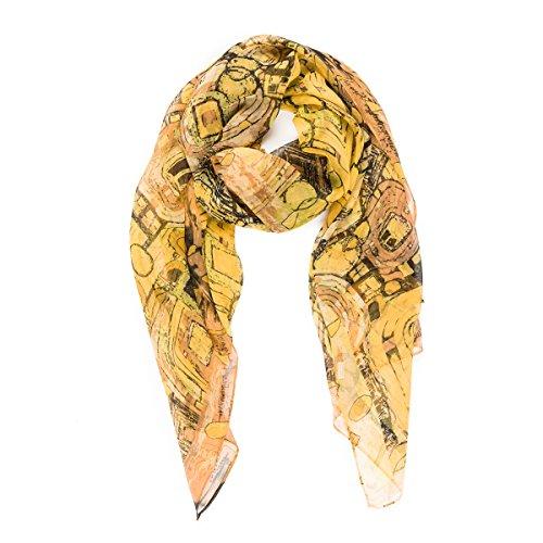 Scarf for Women Lightweight Fashion Paint Souvenir Geometric Summer Fall Scarves Shawl Wraps by Melifluos (HCU15)