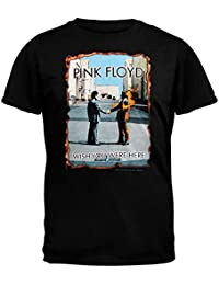 Pink Floyd - Mens Wish You Were Here Burnt T-Shirt - Large Black