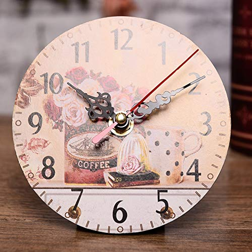 AKIMPE Wall Clock Silent Non Ticking Quartz Digital Large Round Decorative Glass Cover Modern Battery Operated for Living Room Home Office Bedroom Classroom C